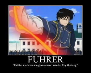 Roy Mustang for Fuhrer by MuzicLuverXP
