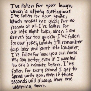 ... fallen for your laugh Follow best love quotes for more great quotes