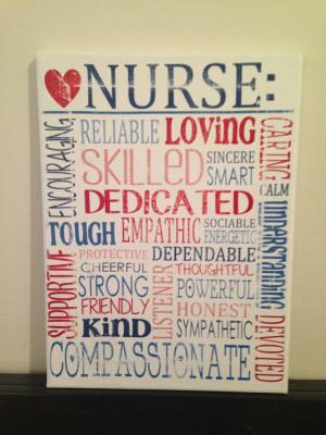 Subway Art Canvas - Words That Describe a Nurse 'Rustic' Looking Sign ...