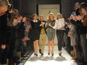 Thomas Rath auf der Fashion Week Berlin mit Frauke Ludowig