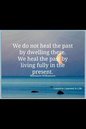 ... it stop being angry hurt over the past its over live in the present