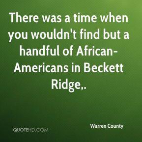 Warren County Top Quotes