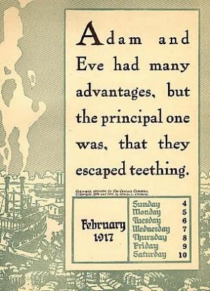 Page from 1917 Mark Twain Calendar
