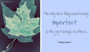The Only Nice Thing About Being Imperfect