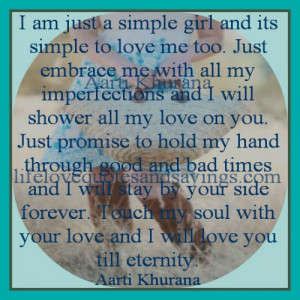 am just a simple girl and it is simple to love me too just embrace ...