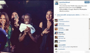 Kevin Hart Priceless Reaction As He Catches Beyonce's Towel At ...