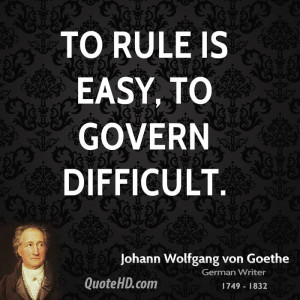 Johann Wolfgang von Goethe Government Quotes