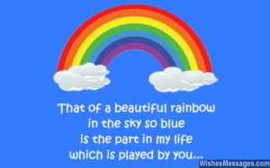 31) That of a beautiful rainbow in the sky so blue, is the part in my ...