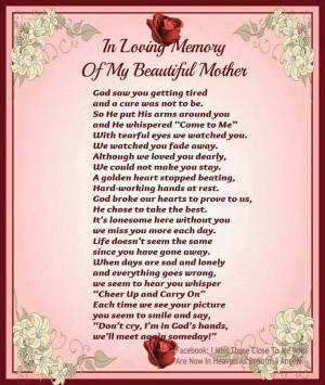 In memory of Mom