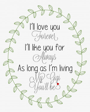 Love You Forever Book Quotes Here are all the i'll love you