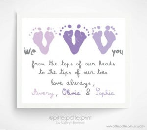Mother's Day Gift from Triplets, Children - Personalized Gift for ...