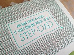 Step Dad Father's Day Card. Step Father Card - Step Parent Card ...