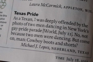 Texan Offended By Pride Parade But Not For Reason You Think (PICTURE)