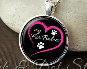 Love My Fur Babies Necklace, Pet Lover Gift, Fur Baby Gift, Dog Lover ...