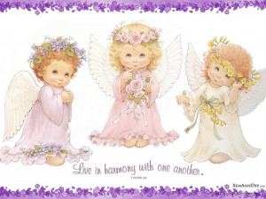 Cute little angels pictures-Photo stock