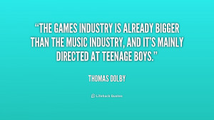 The games industry is already bigger than the music industry, and it's ...