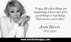 Joan Rivers Funny Quotes