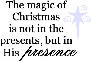 Wall Quote Magic of Christmas