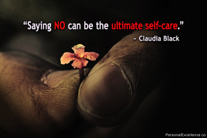 "Inspirational Quote: ""Saying no can be the ultimate self-care ..."