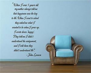 John Lennon Happy Quote
