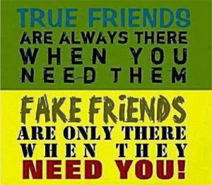 True friends and fake friends sayings image quotes