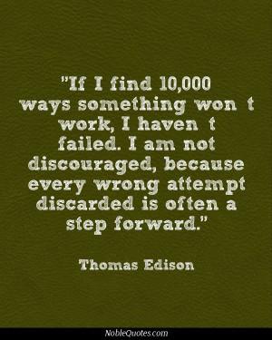 ... Quotes, Failure Quotes, Persistence Quotes, Edison Quotes, Quotes