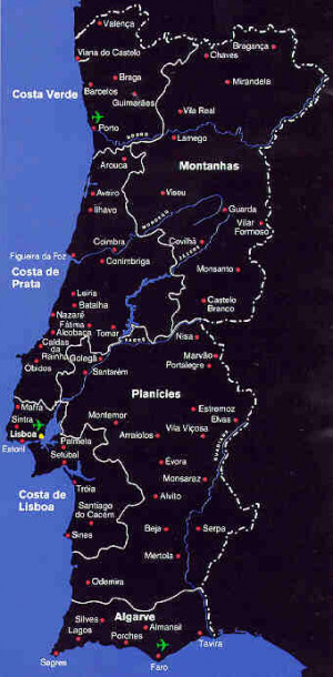 images Spain and Portugal map (legend This is the map of Portugal