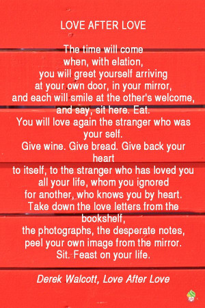 The time will come when, with elation, you will greet yourself ...