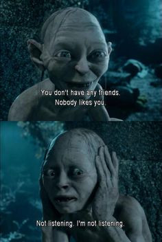 ... , and sadly Smeagol is my favorite character lol! He's so CUTE! More