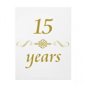 15 Year Work Anniversary But it's been 15 years