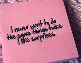 Quotes about Surprises