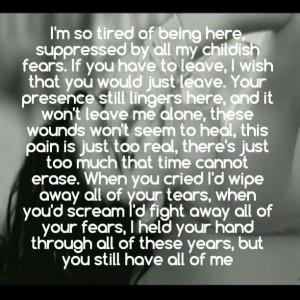 Evanescence | My Immortal ♥ I love the lyrics to this song I'm ...