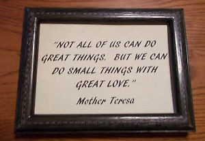 PICTURE-FRAME-QUOTE-BY-MOTHER-TERESA-5-x7-LOVE-GIVING-CHRISTMAS-GIFT
