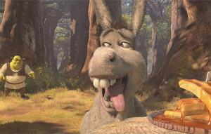shrek donkey waffles