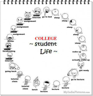 College Student Life and Time Table Funny