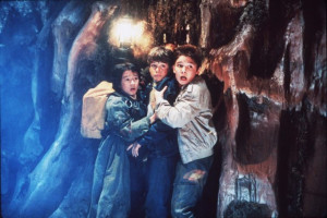 Still of Corey Feldman and Jonathan Ke Quan in The Goonies (1985)