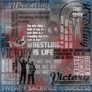 Home / Scrapbooking / Paper / Wrestling is Life Collage