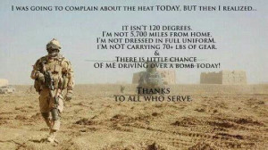Thanks for your love of Country and your sacrifices.