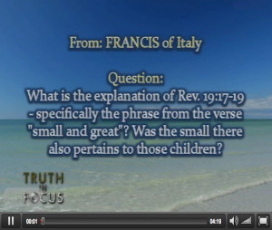 """What do verses Revelation 19:17-19 mean? Who does the phrase """"small ..."""