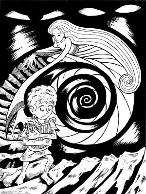 Orpheus And Eurydice Drawing Orpheus & eurydice
