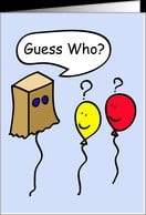 Secret Pal Balloon People, guess who? card - Product #673944