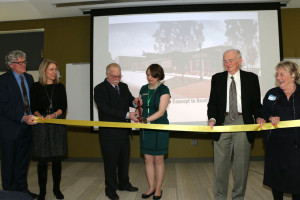 Pictured are from left major donors Jeff and Tricia Raikes Mayor