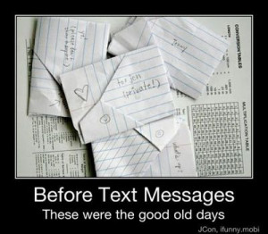letters...the good old days!!