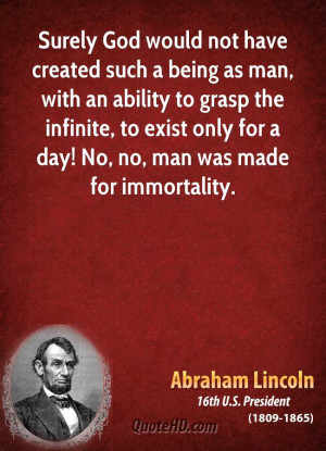 Abraham Lincoln Quotes About God