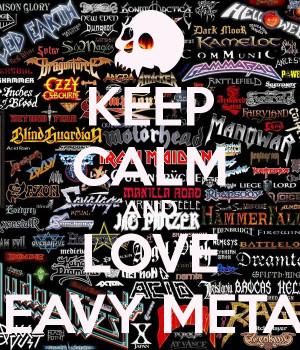 Motiv Quot Love Heavy Metal