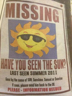 Goes by the name of SUN, Sunshine, Sunset or Sunrise...