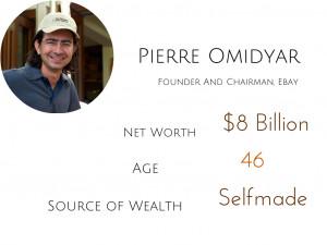 pierre omidyar, billionaire, bio, net worth, rich successful, ebay