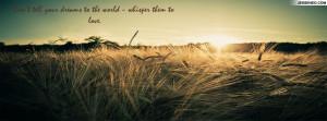 Vintage Grain Quotes Facebook Cover