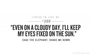 Shake Me Down- Cage The Elephant