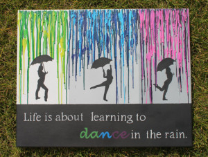 Melted Crayon Art with Quote